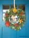 Monogram door sign - customer photo by Sandy M.