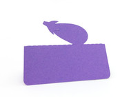 Eggplant place card - shown in grape