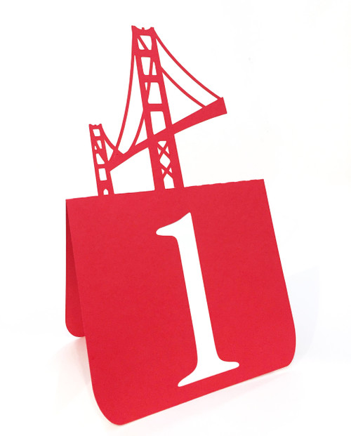 Golden Gate Bridge table number