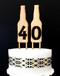 Beer bottle number cake toppers