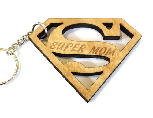 Super mom keychain