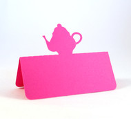 Teapot place card - shown in hot pink