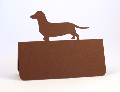 Dog place card - brown