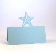 Starfish place card - shown in pastel blue