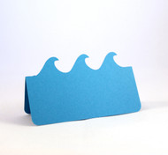 Wave place card - shown in peacock