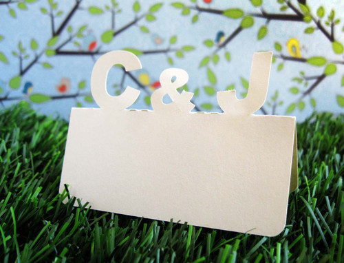 Custom initials place cards