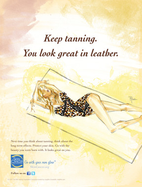 Keep tanning.You look great in leather.