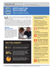 Spotlight on Skin Cancer: What You Need to Know, What You Need to Look For