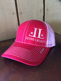 Ladies Two-Toned Red and Pink Hat