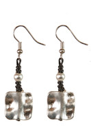 Silver Metal Square Dangle Earrings~Sold Out