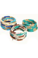 Beaded Memory Wire Wrap Bracelet