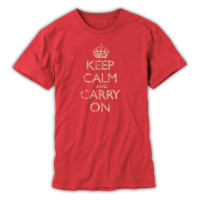 Keep Calm & Carry On Gentlemen's Red Distressed T-Shirt