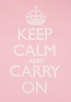 Keep Calm & Carry On Pink Poster