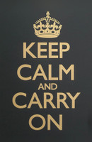Keep Calm & Carry On Black & Gold Poster
