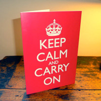 Keep Calm & Carry On Greetings Card
