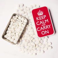Keep Calm and Carry On Tin of Mints