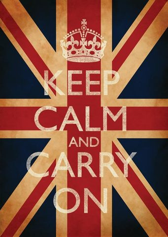 Keep Calm & Carry On Union Jack Poster - Keep Calm and Carry On