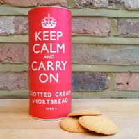 Keep Calm and Carry On Shortbread