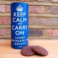 Keep Calm and Carry On Luxury Chocolate Chip