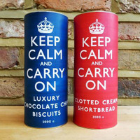 Keep Calm and Carry On Biscuit Twinpack