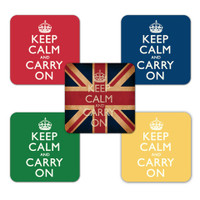 Keep Calm and Carry On Coasters