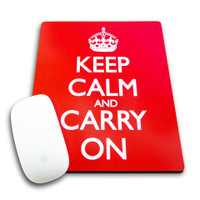 Keep Calm & Carry On Mousemat