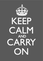 Keep Calm & Carry On Charcoal Poster
