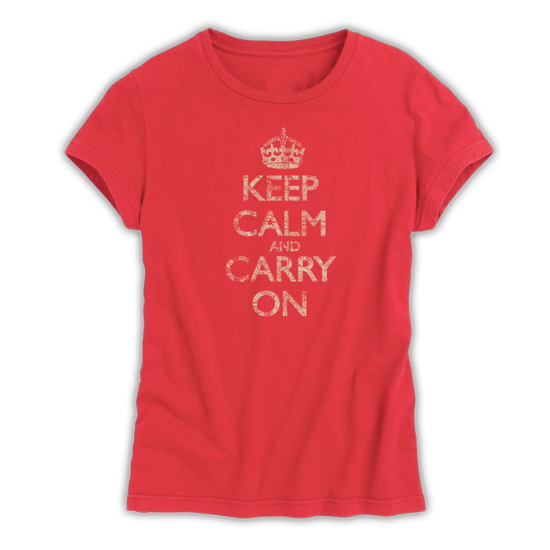 Women's Vintage Black & Distressed Grey T-Shirt - Keep Calm and ...