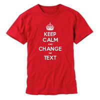 Keep Calm Customised Men's T-shirts