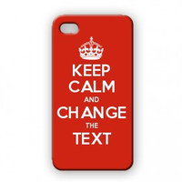 Keep Calm Customised iPhone 4 case