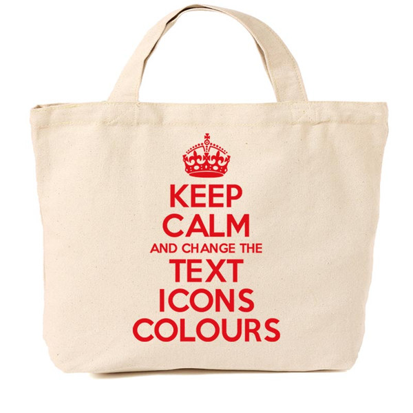 KEEP CALM AND CARRY ON CUSTOMISED TOT BAG
