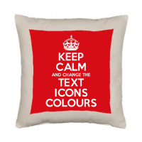 KEEP CALM AND CARRY ON CUSTOMISED CUSHION