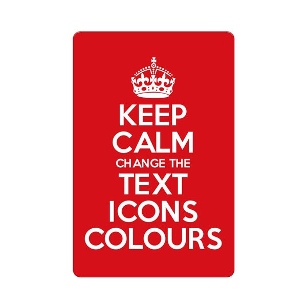 KEEP CALM AND CARRY ON CUSTOMISED METAL SIGN PLAQUE