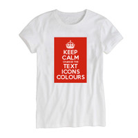 Keep Calm Customised Women's Background Image T-shirts