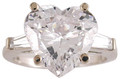 4.00Ct Hand Cut & Polished Heart Cubic Zirconia
