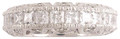 Antique style princess cut full eternity band.