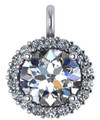 Hand Cut & Polished 2.50Ct Cubic Zirconia Halo Pendant