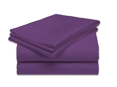 Extra large flannel massage table sheet. 100% Cotton no terylene. Deep Purple - no face hole