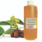 Essential Massage Oil - Stress Relief Blend - Just Jojoba