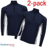 Burke Eden Zip Collar Long Sleeve Sun Shirt TWO PACK