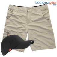 Gill UV Tec Shorts Khaki - Men's SPECIAL with BONUS CAP
