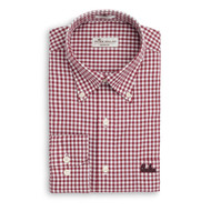 Peter Millar South Carolina Script Nanoluxe Check Woven - Maroon