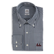 Peter Millar South Carolina Script Nanoluxe Check Woven - Black