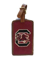 Smathers and Branson Needlepoint Luggage Tag - University of South Carolina