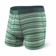 Saxx Vibe Boxer Brief - Emerald Heather Stripe