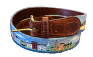 Smathers and Branson Needlepoint Belt - Charleston Scene