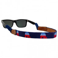Smathers and Branson Needlepoint Sunglass Straps - Republican