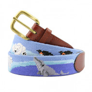 Smathers and Branson Polar Party Needlepoint Belt - Blue