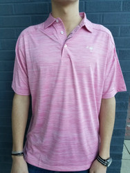 Craig Reagin Melange Palmetto Polo - Rose Pink
