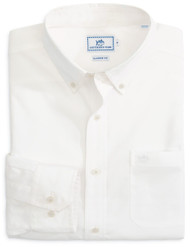 Southern Tide Sullivans Solid Sport Shirt - White
